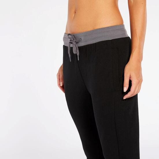 Pantalon Chándal Silver New Evolution - Negro-Gris - Pantalon Mujer ... 0ff8f31cd2f3