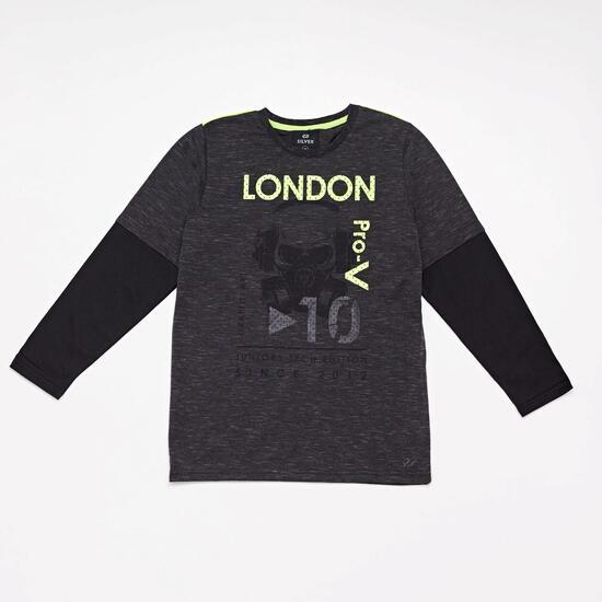 Camiseta Manga Larga Silver London Junior
