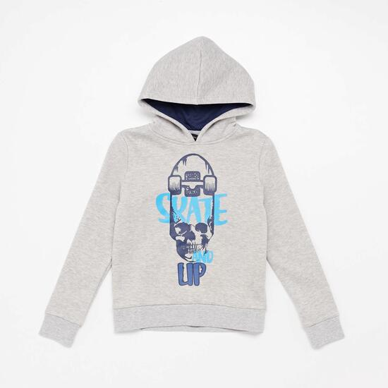 Sudadera Capucha Silver Basic Junior