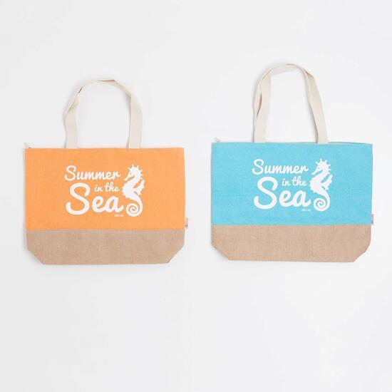 Bolso Playa Silver Summer In The Sea