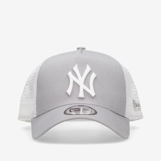 New Era NY Yankees - Gris Blanco - Trucker  c3c8acc8efb