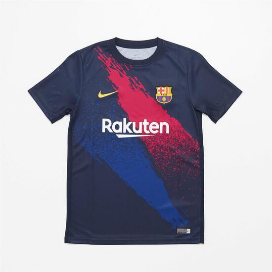 Fcb Jr Camiseta M/c Entrenamiento Futbol