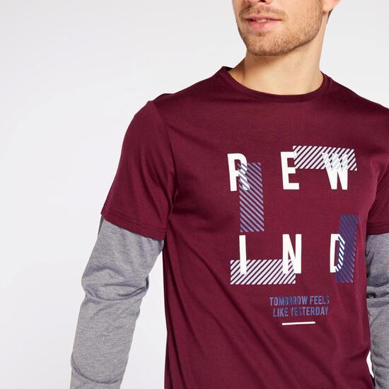 Rewind Cro Camiseta M/l Doble Manga Alg.