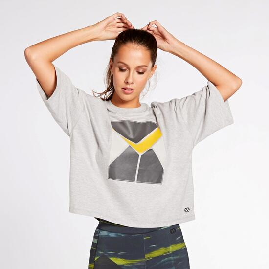 T-shirt Silver Rewind