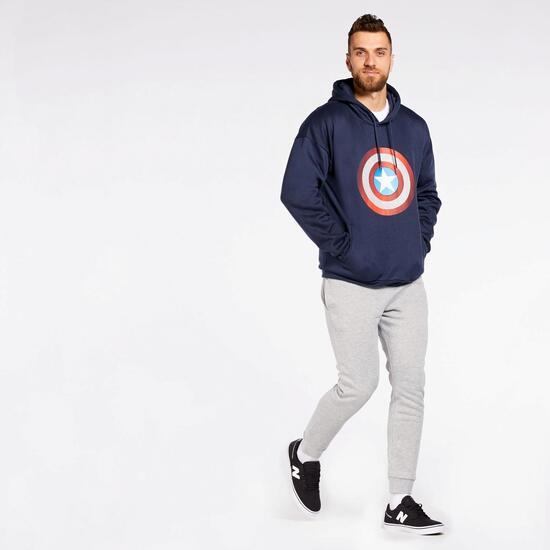 Sudadera Capucha Capitán América