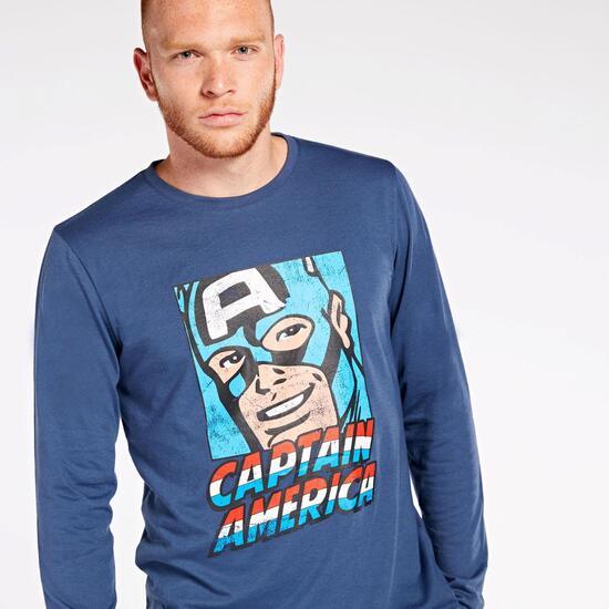 Camiseta Manga Larga Capitán América