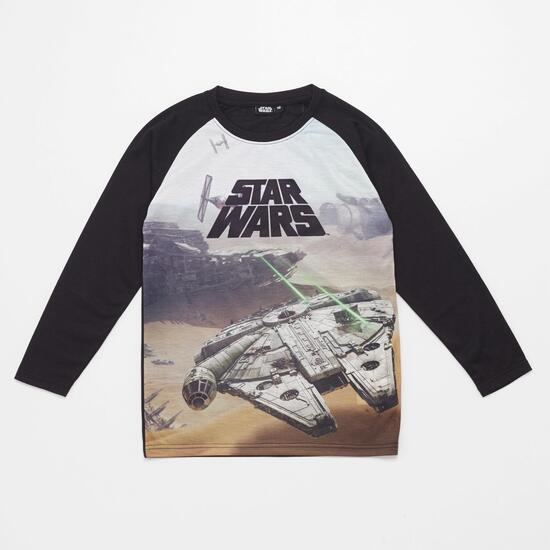 Anh Av Star Wars Jr Camiseta M/l Alg.