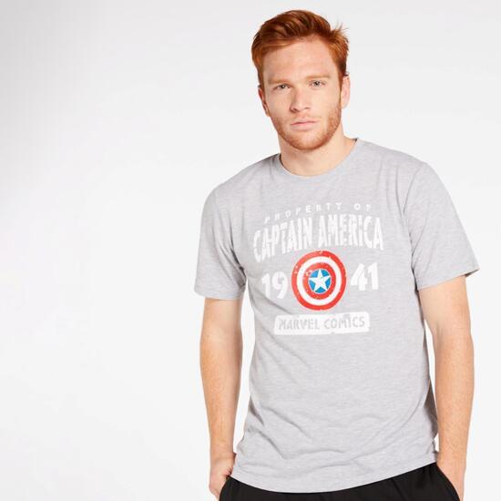 0av Av Marvel Cro Camiseta M/c Alg. Cap. America