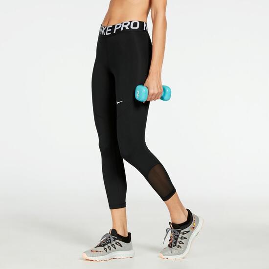 Calça Legging Nike All In Crop Feminina Preto e Branco