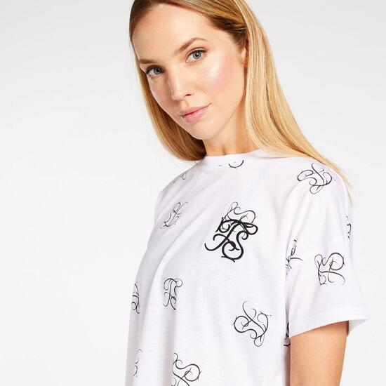 Camiseta Crop Silver