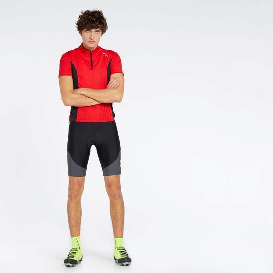 Calções Com Alças Ciclismo Mitical Bronce