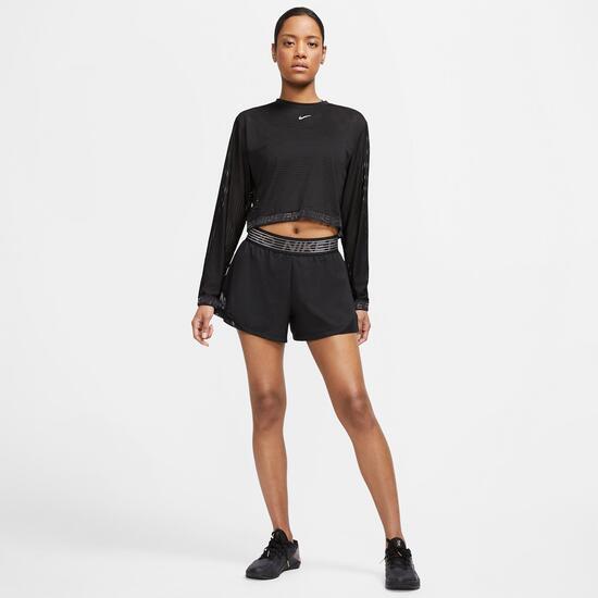 Nike Pro 2 In 1 Sra Pantalon Corto + Malla Gym