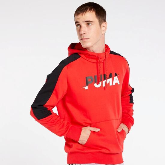 contar tetraedro Pasivo  Puma Modern Sports - Rojo - Sudadera Capucha Hombre | Sprinter