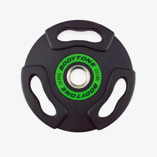 Disco Olímpico Goma 10 Kg 50 Mm