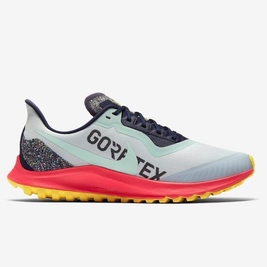 Nike Zoom Pegasus 36 GTX - Blanco - Zapatillas Trail Mujer ...