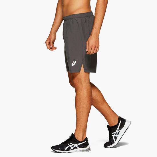 El cuarto Interior Invalidez  Pantalón Running Asics - Gris - Pantalón Corto Hombre | Sprinter