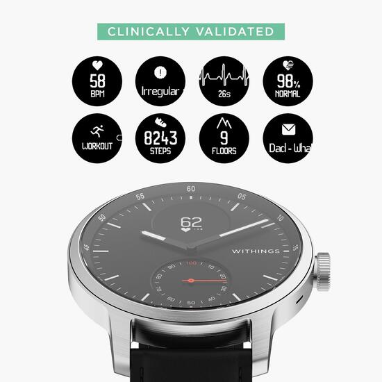 Withings Pulsometro Acero Hibrido 42mm