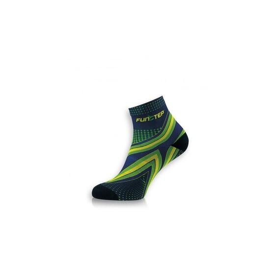 Calcetín Running Protección Marino/verde Short