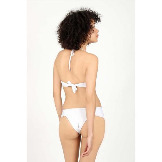 Braguita Bikini Drapeada Blanca Audaz Fitness