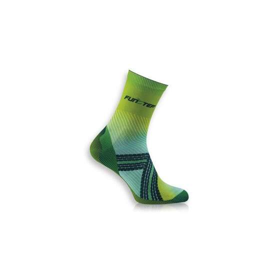Calcetín Ciclismo Transpirable Verde Claro/verde Oscuro Medium