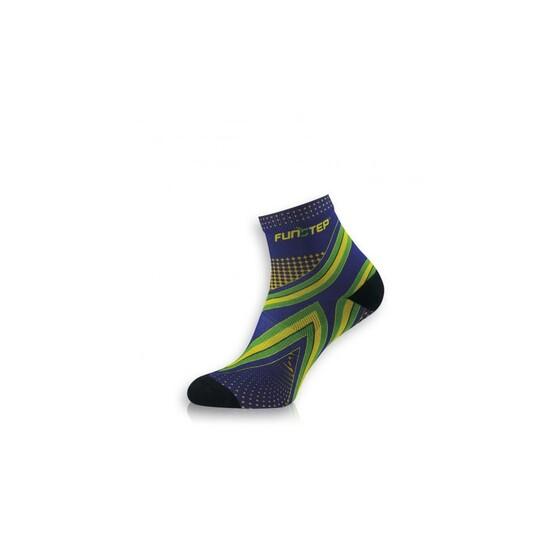 Calcetín Running Protección Azul/verde Short