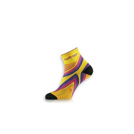 Calcetín Running Protección Amarillo/morado  Short