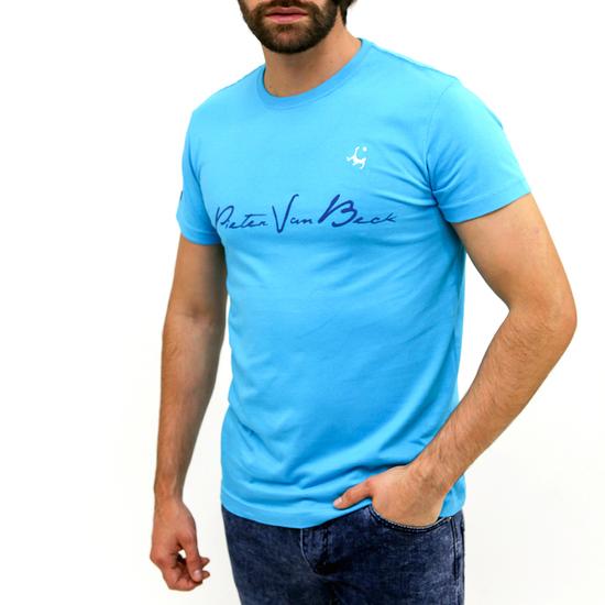Camiseta Pieter Van Beck Draw Turquoise