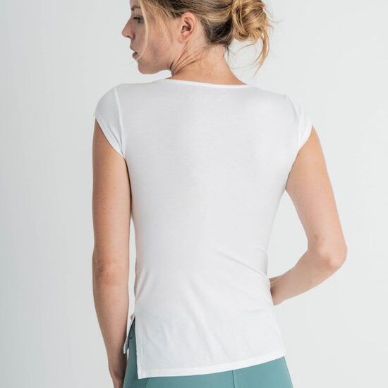 Camiseta Básica Blanca Para Yoga  Bianca Caviró Sport