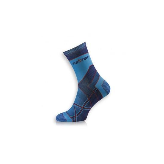 Calcetín Running Transpirable Azul/rojo Medium