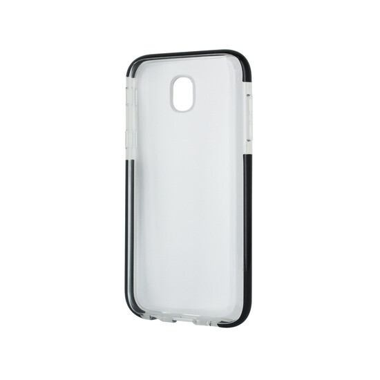 Muvit Pro Funda Cristal Soft Bump Samsung Galaxy J5 2017 Shockproof Transparente + Borde Negro