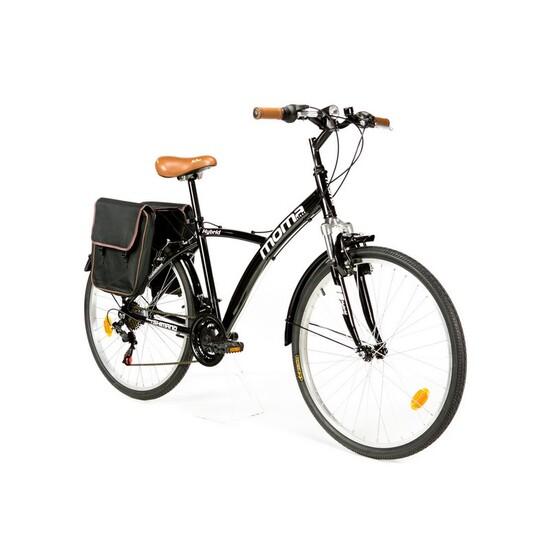 "Moma Bikes Bicicleta Trekking / Paseo Shimano Hybrid 26"", Alu, 18v, Susp. Delant."