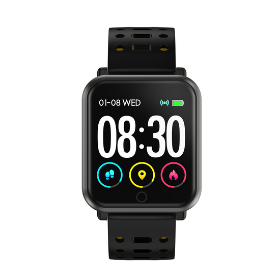 Reloj Inteligente Smartwatch Cuadrado Ip68 Amarillo