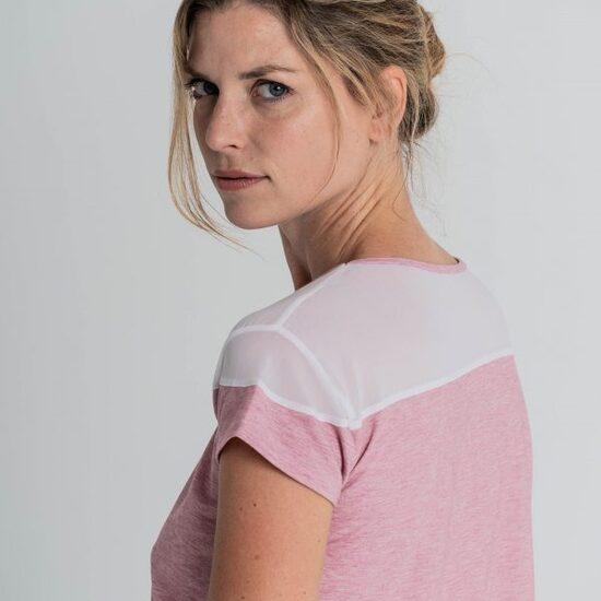 Camiseta Fitness Transpirable Rosa, Alana