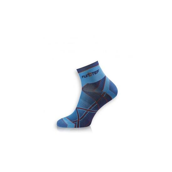 Calcetín Running Transpirable Azul/rojo Short