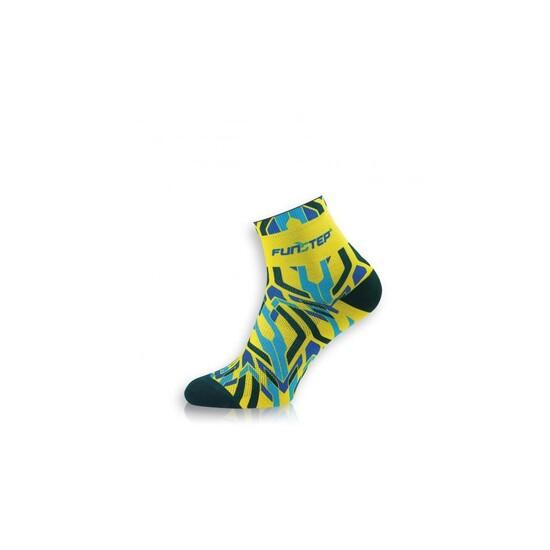 Calcetines Ciclismo Divertidos  Amarillo/azul Short