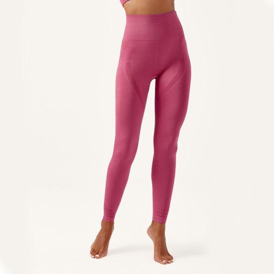 Malla De Mujer Hatha Born Living Yoga Color Rosa Sin Costuras