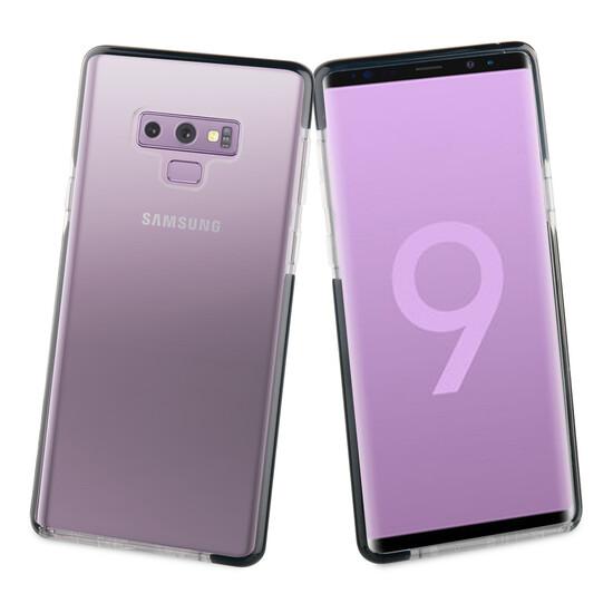 Muvit Tiger Soft Funda Samsung Galaxy Note 9 Shockproof 2m Transparente + Borde Negro