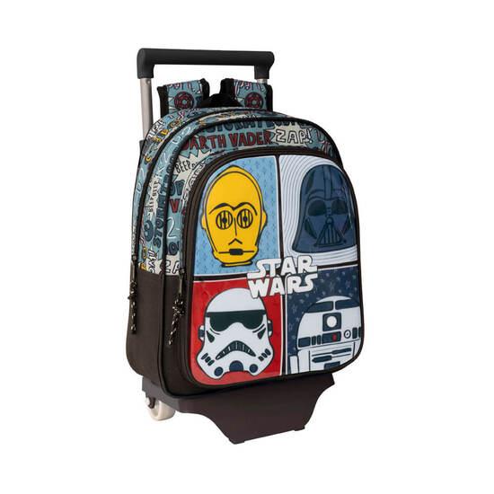 Mochila Star Wars Astro Infantil Pequeña Con Carro