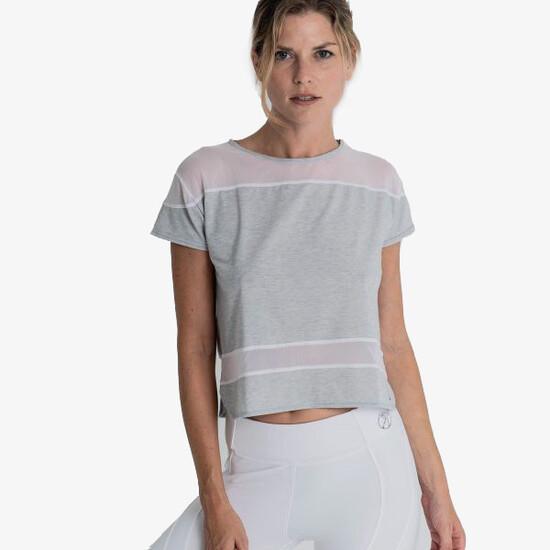 Camiseta Fitness Transpirable Gris, Alana