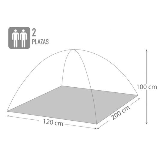 Tienda Campaña Dome Para 2 Personas Aktive Sport Camping