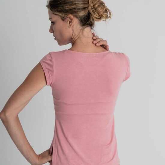 Camiseta Básica Rosa Para Yoga  Bianca Caviró Sport