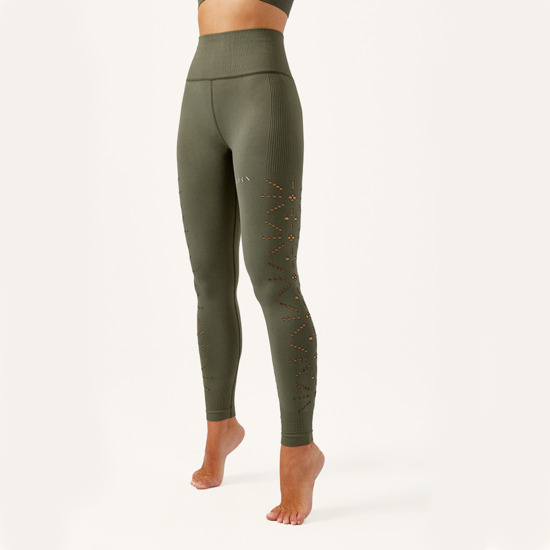 Malla De Mujer Prana Born Living Yoga Color Verde Sin Costuras