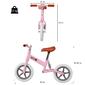 Homcom Bicicleta Sin Pedales  Para Entrenar El Equilibrio