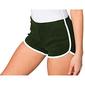 American Apparel- Pantalones Cortos De Algodón Casual/de Deporte Para Mujer (Verde Oscuro/blanco)