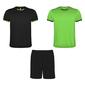 Conjunto Deportivo Racing Compuesto Por  2 Camisetas Y 1 Pantalón.