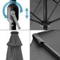 Sombrilla Parasol Con Luz Led, Tubo Aluminio Y Funda Ecd-germany