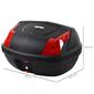 Homcom Baúl Moto Capacidad De 48 L Cerradura Con Dos Llaves Accesorios 58x44,5x33,5cm