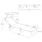 Tumbona Playa Cama Con Parasol De 3 Posiciones Aluminio Y Textileno