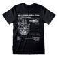 Camiseta Boceto Millennium Falcon La Guerra De Las Galaxias Star Wars