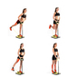 Plataforma De Fitness Para Glúteos Y Piernas Con Guía De Ejercicios